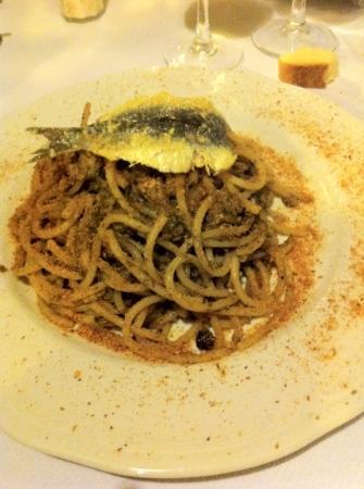 Trattoria A' Cuccagna: pasta con le sarde