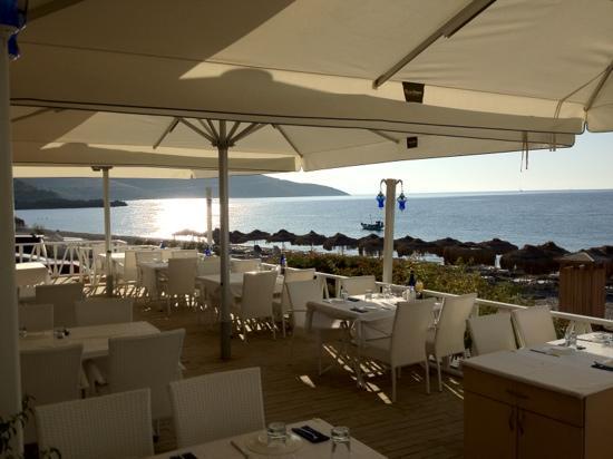 Mavi Beyaz Hotel: La terrazza ristorante