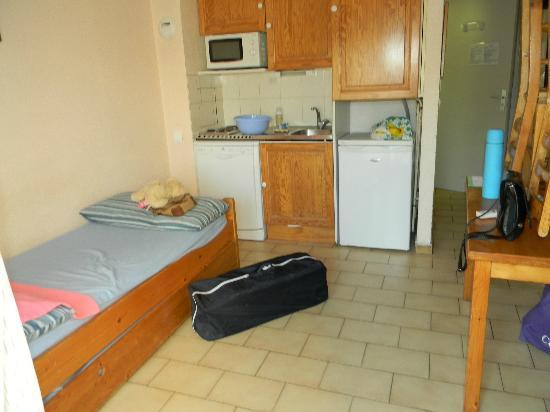 Residence le Parc Velusine : salon chambre