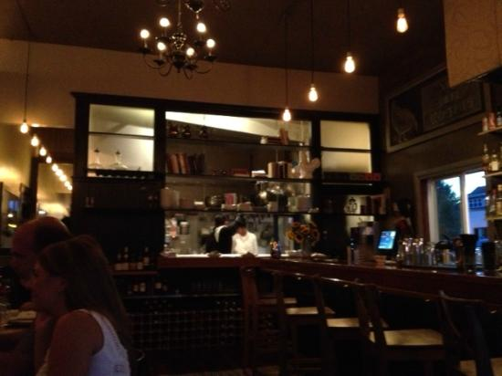 Cocotte-view of bar and kitchen