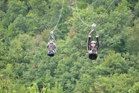 Mountain Creek Zip Tours: Off we go