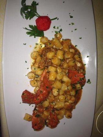 Marciana Marina, Italia: gnocchi all'astice