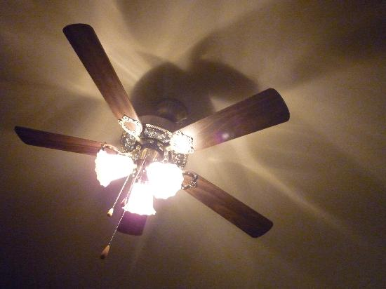 Au NIDaigle: Ceiling fan in the room above the bed