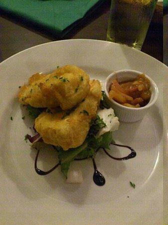 The Hayloft Restaurant: Brie starter - delicious....