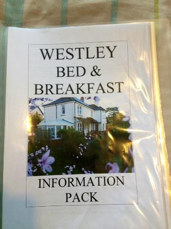 Westley Bed & Breakfast: Information Pack