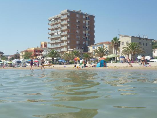 Hotel Sylvia: Vista dalla spiaggia