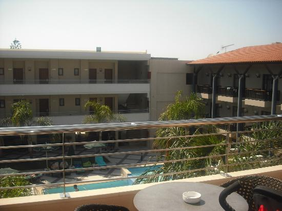 Porto Platanias Beach Resort & Spa: View from balcony of 503 overlooking adults pool