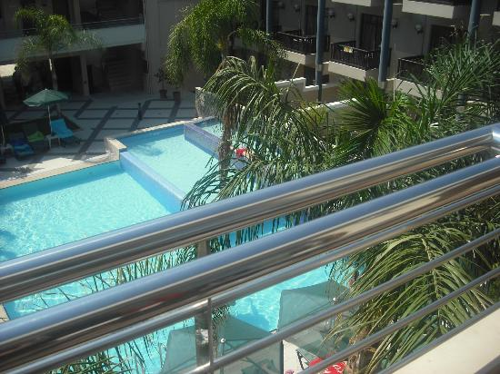 Porto Platanias Beach Resort & Spa: View from room 503 balcony over adults only pool