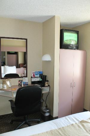Microtel Inn & Suites by Wyndham Erie: Tv, desk area