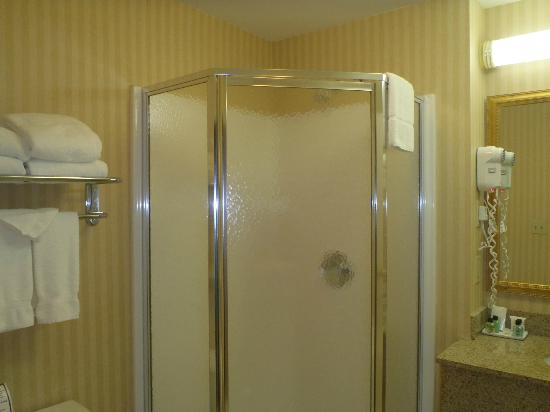 Fort William Henry Hotel and Conference Center: Great Corner Shower