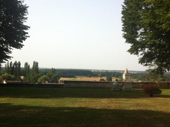 Chateau de Marcay: view from the backyard