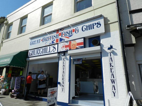 Churchills Fish and Chips: Shop Front