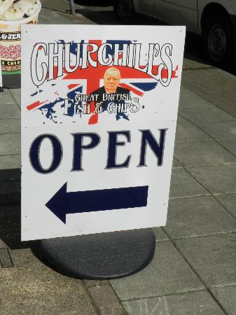 Churchills Fish and Chips: We are open!