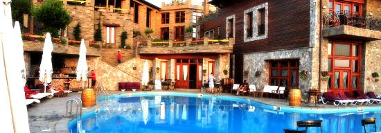 Chateau Rexhekri: The pool, the bar and the hotel.
