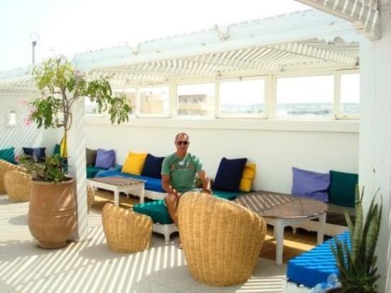 Auberge de la Plage : Paolo in terrazza