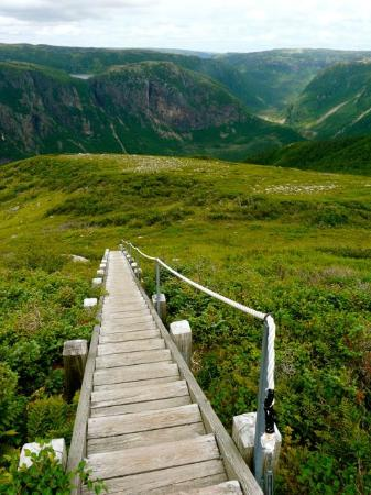 Rocky Harbour, Kanada: Hiking down from the summit of Gros Morne National Park