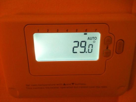 Premier Inn Blackpool East (M55, Jct4) Hotel: room temperature during stay