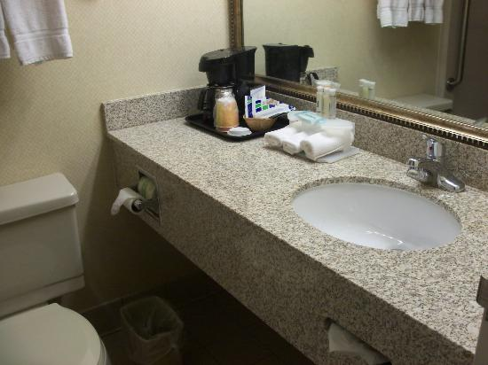 Beantown Inn: Small but clean bathroom. (Shower-Tub not pictured)