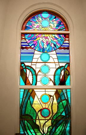 Monastery Spa & Suites: Signature Stained Glass Window