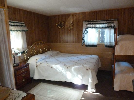 Wagon Wheel RV Campground and Cabins: Queen bed in main room - cabin 6