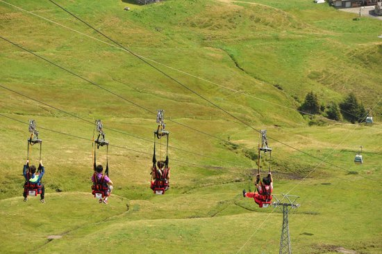 Grindelwald, Schweiz: Descending the First Flyer