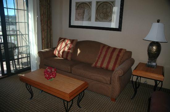 Hampton Inn & Suites Coeur d'Alene: Sitting area/balcony