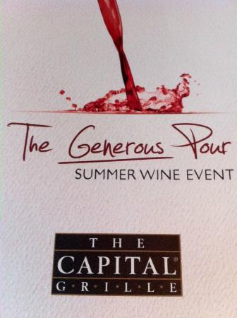 The Capital Grille: $25 for a flight of fantastic wines!!!
