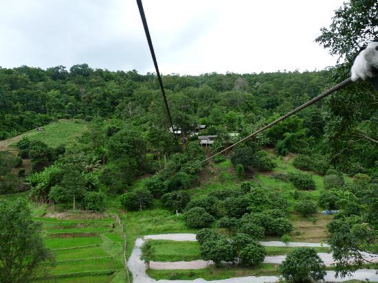 Mae Rim, Thailand: Zip line