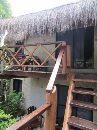 Na Balam Beach Hotel: Entrance to our room