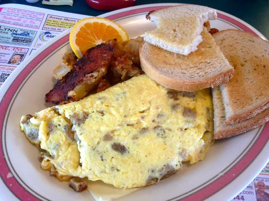 Augie's Omelette & Waffle : Scrapple and cheese omelet. YUM!