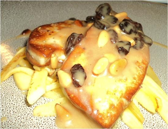 Restaurante Argentino Dos Terres - Foie poile con pasas y piñones