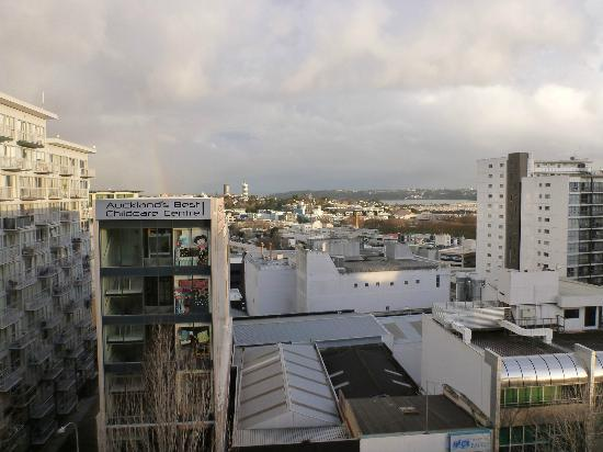 VR Auckland City: view from balcony on 8th floor