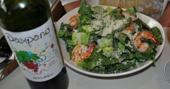 Big Pickle FoodBar: Caesar Salad with Shrimp