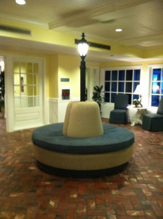 Boardwalk Inn: cool round sofa in lobby 7/27/12