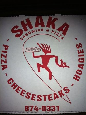 Shaka Sandwich & Pizza : Shaka Pizza Box