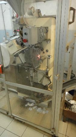 Tea Factory: process making the tea bags