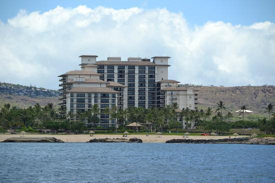 Beach Villas at Ko Olina: View from our boat cruise.