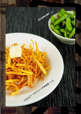 Tasting East: Sweet Potato Fries and Edamame