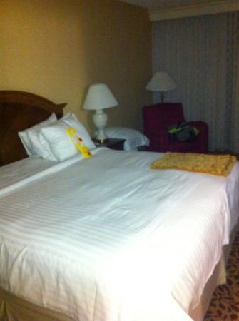 Warner Center Marriott Woodland Hills: Housekeeping didn't even fully make the bed!