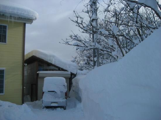 Aomori Moya Kogen Youth Hostel: 冬は雪がいっぱいです。