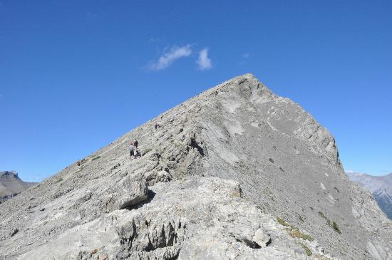 Ha Ling Peak: View of the peak from the saddle. Looks formidable but not that hard to make it the rest of the