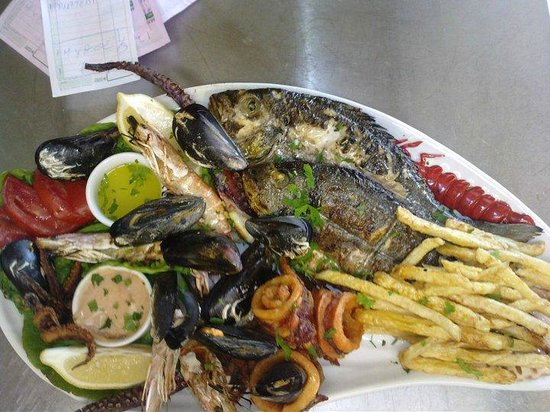 Aegean Shore: seafood plate for two