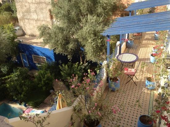 Riad Jean Claude: terrasse sur jardin