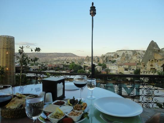 Manzara Restaurant: View from top terrace