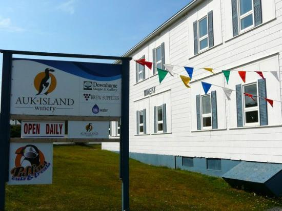 Auk Island Winery: Winery is easy to find