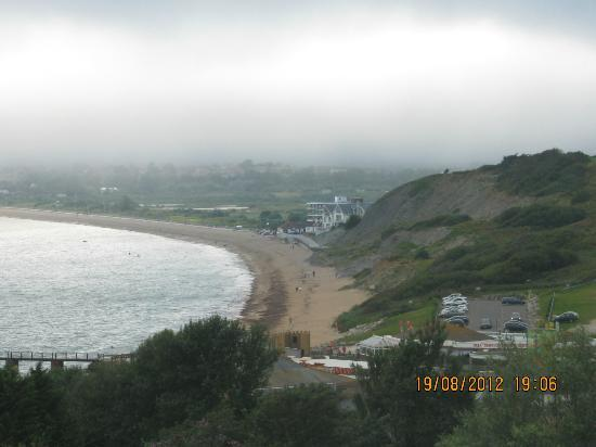 Waterside Holiday Park & Spa : view from waterside football pitch/ playing field