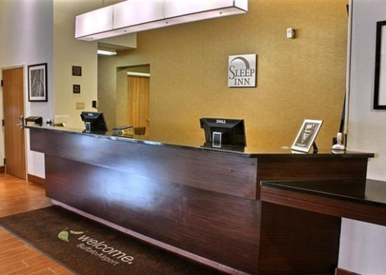front desk picture of sleep inn buffalo airport. Black Bedroom Furniture Sets. Home Design Ideas