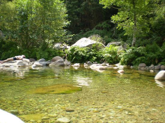 Camping Les Oliviers : Rivière en bas du camping