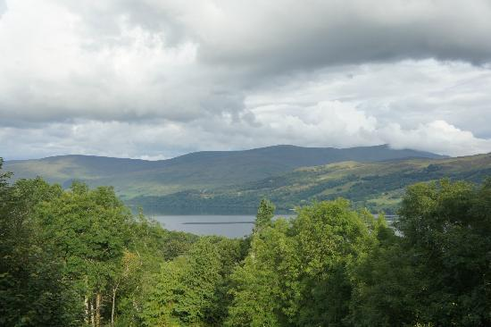 Loch Tay Highland Lodges: View from the wigwam area