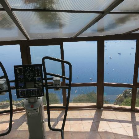 Chateau de la Chevre d'Or: Spectacular view from the fitness area